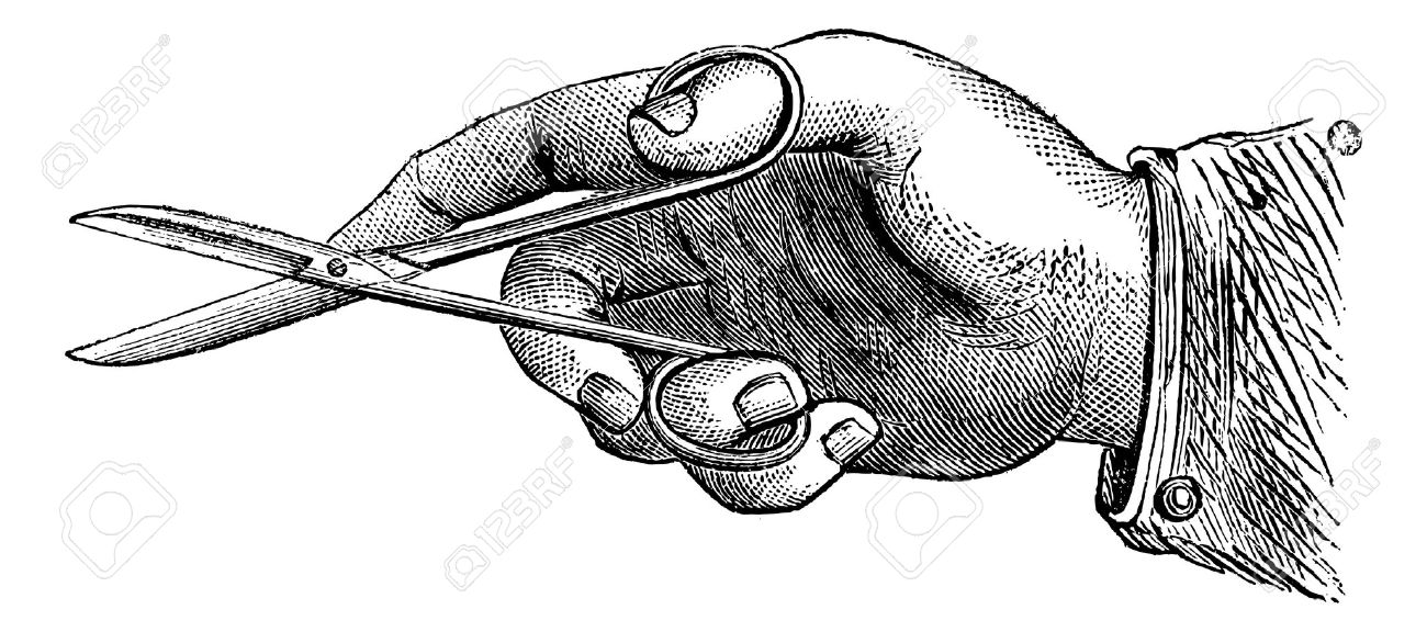 13766957-How-to-hold-the-scissors-to-make-an-incision-vintage-engraved-illustration-Magasin-Pittoresque-1875--Stock-Vector