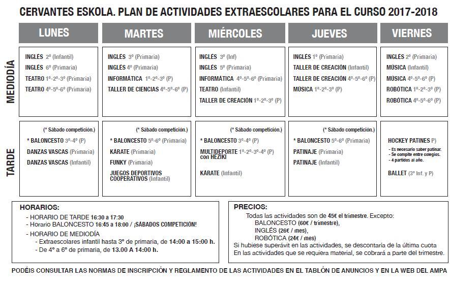 Plan de Actividades Extraescolares 2017_2018